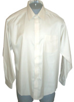 Joseph & Feiss Non Iron Solid Texture Beige LS Dress Shirt Size 16.5 34/35 New