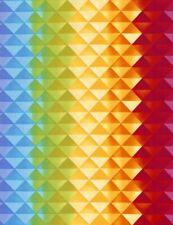 Blender Fabric - Prism Rainbow Triangles C5389 - Timeless Treasures YARD