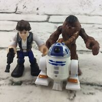 Star Wars Figures Lot Small Han Solo Chewy R2D2 Hasbro 2011