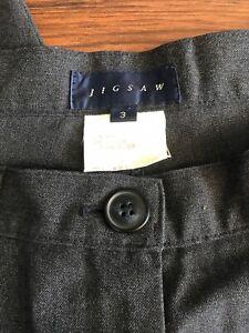 "JIGSAW Mens Grey Classic Wool Blend Straight Trousers SMALL 30"" Waist"