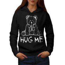 HUG Me Teddy Bear Felpa con Cappuccio Donna S-2XL NUOVO | wellcoda
