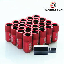 20x Red Aluminum 42MM 12X1.5 For Ford Focus Fusion Honda Accord Wheel Lug Nuts