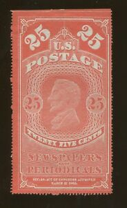 1865 United States Newspaper & Periodical Stamp #PR3b Mint Previously Hinged