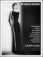 1976 Fashion Quorum Leonard fashions woman model vintage photo print Ad adl31