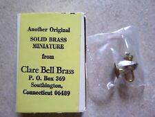 Dollhouse Miniatures Vintage Clare Bell Brass Wall Sconce