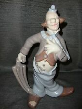 "Porcelain Clown with Umbrella Figurine LLadro like colors 1977 12"" ANTK D MOLD"