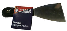 S&J Scraper Flexible - 75mm - tilers tiling tools