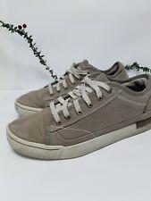 Mens Shoes Canvas Pumps Beige Caterpillar Lace Ups Size 9