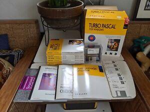 "Complete Borland Turbo Pascal 1.5 Windows 3.5"" Disks w/ ObjectWindows & Cobol"
