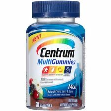 Centrum Men MultiGummies Multivitamin, Assorted Fruit Flavors 70 ea