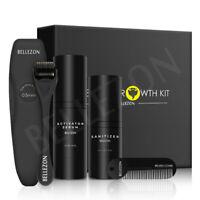 Beard Growth Kit Set Kits Beard Comb Shaper Roller Activator Serum Oli Blam
