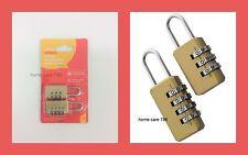 2 x COMBINATION PADLOCK SET Security Suitcases Luggage Baggage Bag Gym Lockers