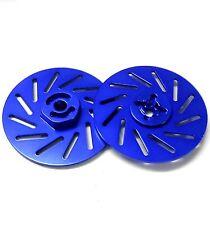 57822LB 1/10 RC M12 12mm Alloy Wheel Adaptors With Brake Disc Blue 38mm x 2
