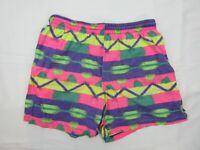 Vintage Mens Board Shorts Size L Fluro Beach 90s Bright Loud Surfing Sports