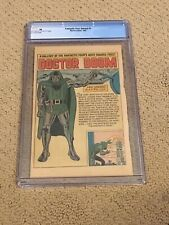 Fantastic Four Annual 1 CGC PG OWW Page Color (Dr Doom Gallery Page!!) + magnet