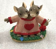 """Charming Tails """"We're A Perfect Fit"""" Mice Knitting Figure 3""""H Fitz & Floyd"""