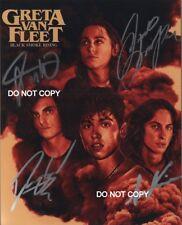 "Greta Van Fleet band Reprint Signed 8x10"" Photo #1 RP ALL 4 Members Autographed"