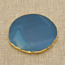2pcs Fashion Blue Agate Coaster Irregular Shape Cup Mat 6-8cm Home Supplies