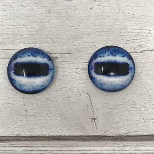 Pair of Blue glass eyes for needle felting, Horse Eyes Sheep Eyes Goat  (463)