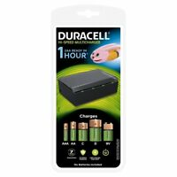 Duracell CEF22 Universal Multi Charger - AA AAA C D & 9V Rechargeable Batteries