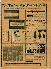 1977 ADVERTISEMENT Train Accessories Signs Bridge Fence Lamp Post Smoke Trees