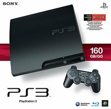 Sony PlayStation 3 Slim 160 GB Charcoal Black Console + 5 Games!