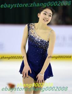 Ice skating dress.Dark Blue Navy Figure Skating  Dress.Baton Twirling Costume