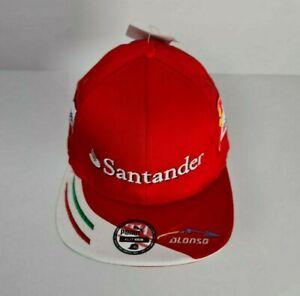 Puma Scuderia Ferrari Hat Santander F1 Racing Alonso Replica Flat Brim Cap