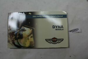 100th Anniversary Harley Dyna owners manual 99467-03 FXD FXDL FXDX EPS23631