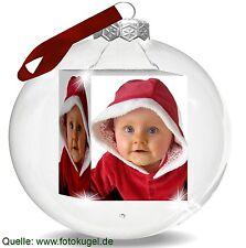 FOTOKUGEL ! Geschenk Fotogeschenk Geburtstag Fototasse Weihnachtskugel Dein Foto