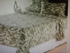 CAMO HEAVYWEIGHT KING SIZE SHEET SET 100% BLENDED COTTON CAMOFLAUGE BRAND NEW