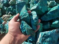 rough natural chrysocolla from sonora mexico ( by the pound)