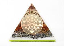 SRI YANTRA Orgonite Pyramid Amber Quartz Aluminum Orgone Energy Generator
