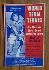 *Original* (1976) World Team Tennis Chris Evert Margaret Court cardboard Poster