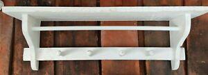 Wandregal Weiß Vintage Regal Hakenleiste Küchenregal Shabby Retro Überhandtuch
