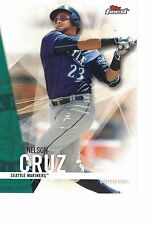 "2017 Topps Finest 5""x7"" #/49 Nelson Cruz Seattle Mariners ONLINE EXCLUSIVE JUMBO"