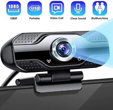 1080P Full HD USB Webcam for Laptop&PC Desktop Web Camera with Microphone/FHD
