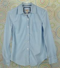 Arizona Kids Girls Junior Button Down Shirt Long Sleeve Blue Stripe S Small