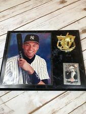 """Derek Jeter NY Yankees 1996 Wall Plaque - 12"""" x 15""""With 1997 Leaf Card #165"""