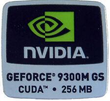 NVIDIA GeForce 9300m GS CUDA 256mb sticker autocollant logo 18x18mm (333)