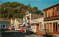Automobiles marquee Main Street Tiburon California Marin Color Postcard 12344