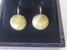 925 Sterling Silver Vintage Style Agate Earrings