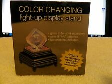 Color Changing Light-Up Display Stand-New