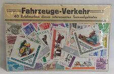 40 Briefmarken Fahrzeug-Verkehr des interessanten Sammelgebiets teil gestempelt