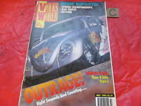 VOLKS WORLD VW MAGAZINE July 1992 DRAG CAR-T4 INTO T1-COOL CABRIOLET-SQUARE BACK