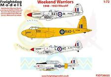 Freightdog Decals 1/72 WEEKEND WARRIORS Royal Auxiliray Air Force 1948-1953