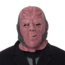 Película Hellboy Máscara Halloween Disfraces Fiesta Overhead Completo Funda Latex Fiesta Máscara