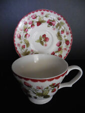 BILTMORE FOR YOUR HOME - HARVEST BERRY FINE CHINA - STRAWBERRIES - CUP & SAUCER
