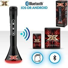 The X Factor Karaoke Bluetooth Microphone Speaker With LEDs & Echo Function