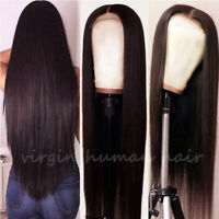 Glueless Brazilian Remy Human Hair Lace Front Wig Full Wigs With Baby Hair Brown